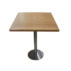 Bàn cafe HIGHLAND mặt bàn tre ép vuông SQ60 - Chân Inox (2)