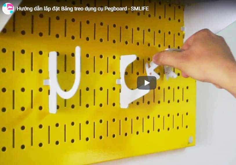 Hướng dẫn lắp đặt Bảng treo dụng cụ SMLIFE PEGBOARD