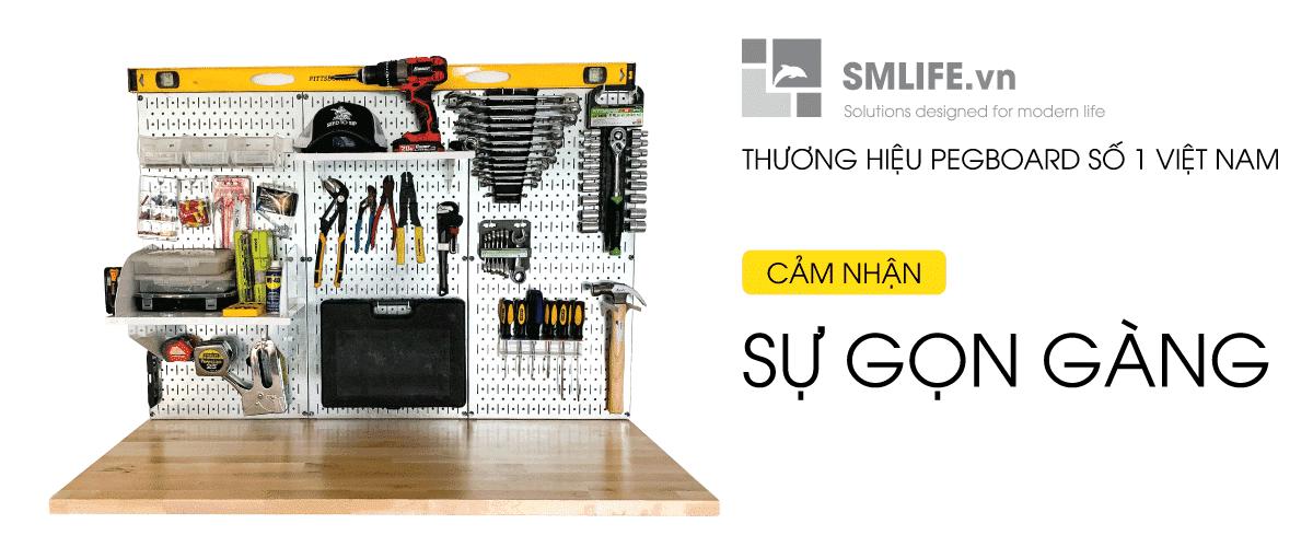 Banner SMLIFE | Bảng treo dụng cụ cơ khí pegboard