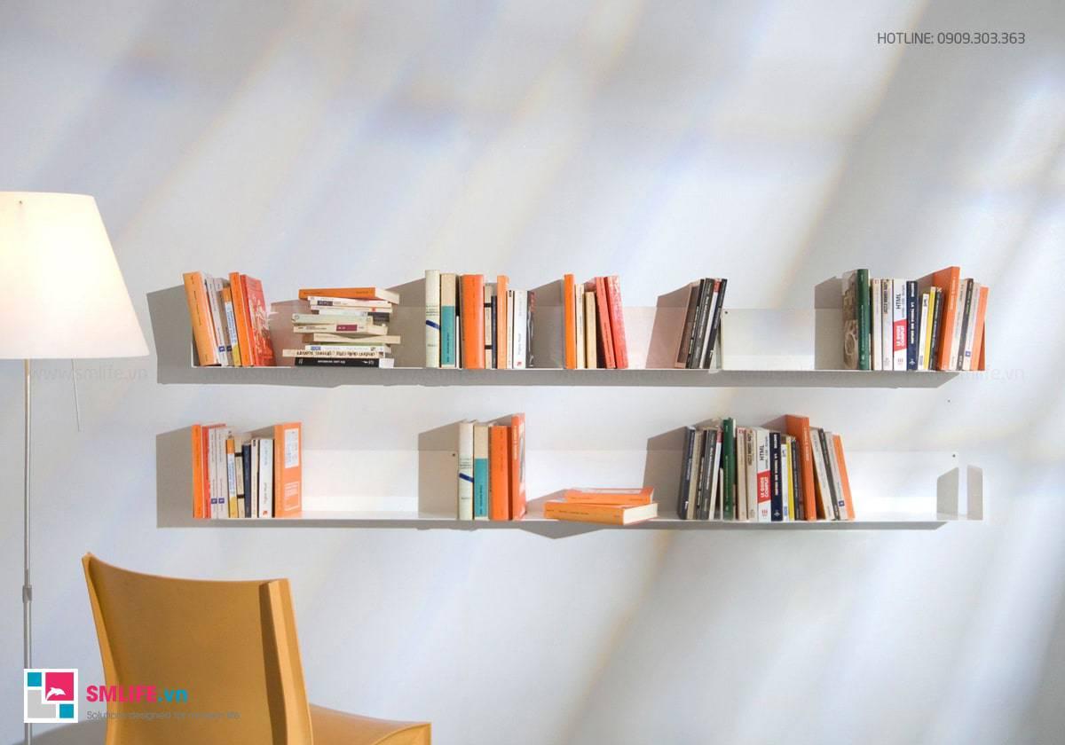 Kệ sách treo tường đẹp chữ U45