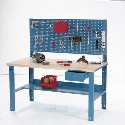 hình 2 - Các phụ kiện đi kèm với bàn thao tác lắp ráp workbench cơ khí điển hình