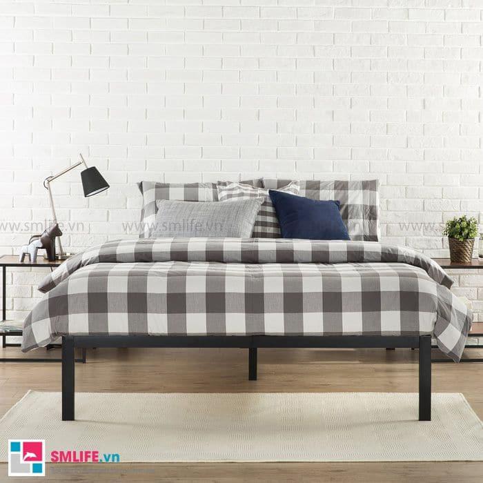Giường sắt đơn giản với nhứng thiết kế lắp ráp chắc chắn