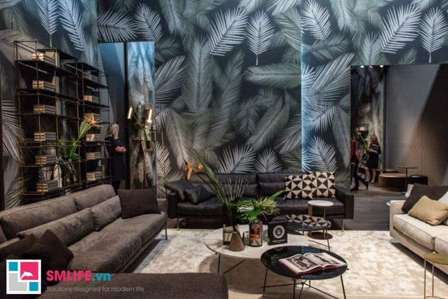 Bàn trà sofa với kết cấu gồm 3 bàn tròn tạo nét chấm phá cho căn phòng