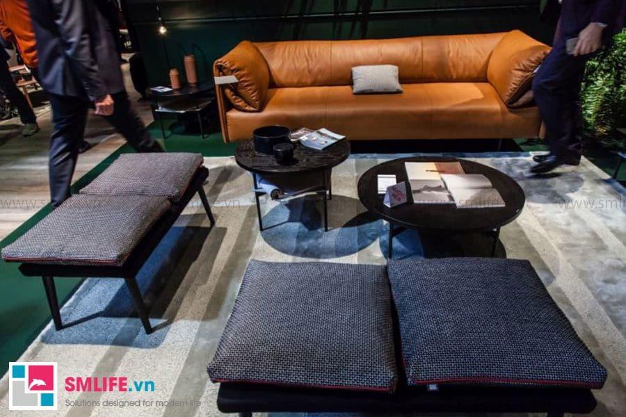 Bàn trà sofa với sự kết hợp nhiều kiểu dáng và màu sắc khác nhau