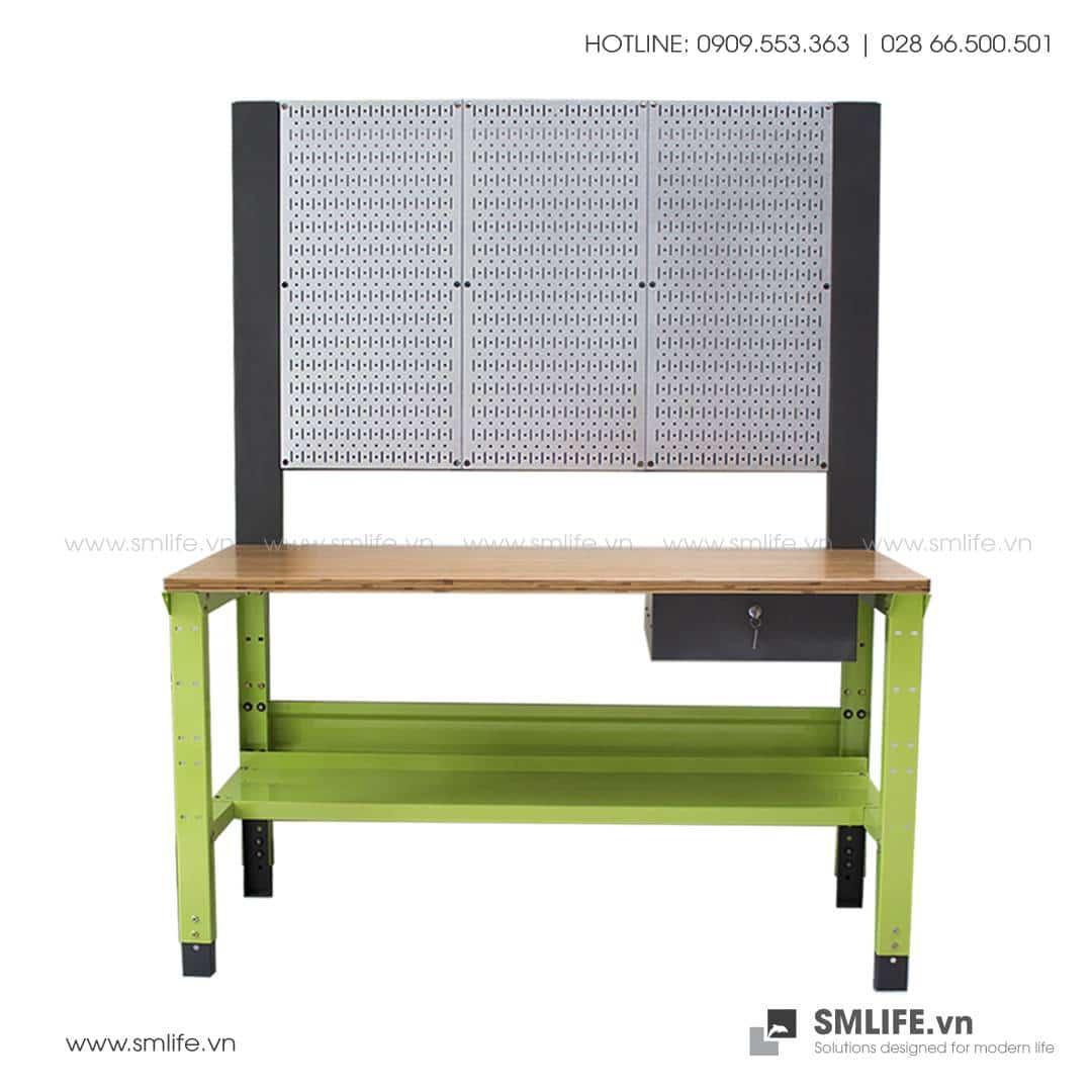 Bàn nguội cơ khí Workbench Khung Pegboard | SMLIFE