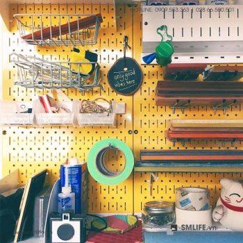 Bảng treo dụng cụ pegboard kim loại SMLIFE phòng làm việc | SMLIFE