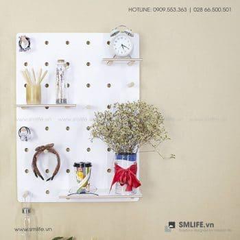 Bảng Pegboard gỗ trang trí treo tường | SMLIFE