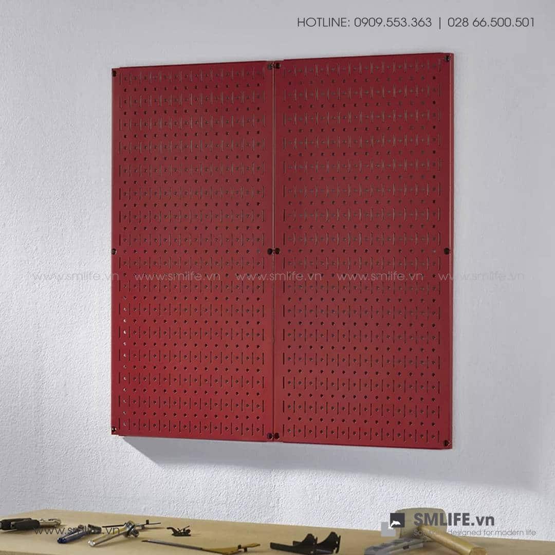 Bộ 2 Bảng treo dụng cụ Pegboard đứng 80×40 – Đỏ