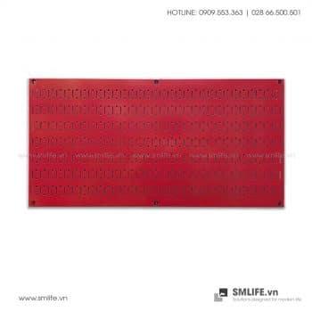 Bảng treo dụng cụ Pegboard ngang 40×80 Màu Đỏ
