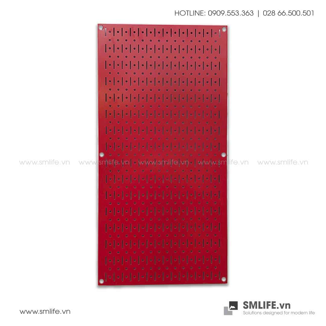 Bảng treo dụng cụ Pegboard đứng 80×40 Màu Đỏ