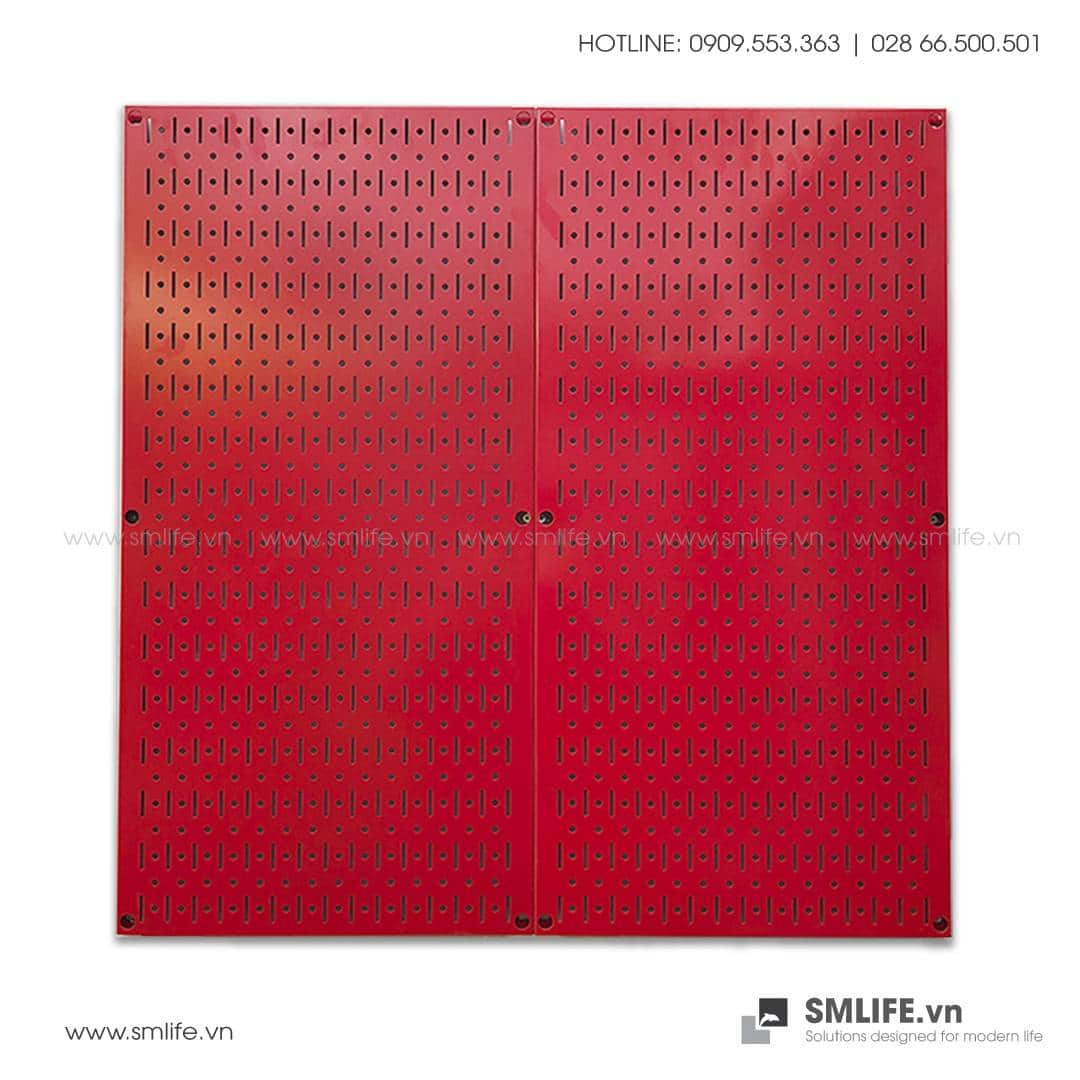 Bộ 2 Bảng treo dụng cụ Pegboard đứng 80×40 Màu Đỏ