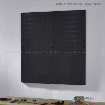 Bộ 2 Bảng treo dụng cụ Pegboard đứng 80×40 Màu Đen
