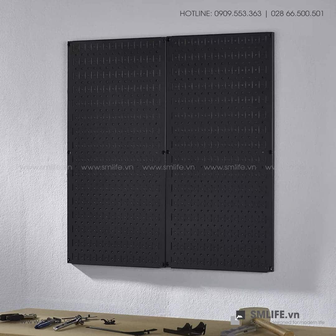 Bộ 2 Bảng treo dụng cụ Pegboard đứng 80×40 – Đen