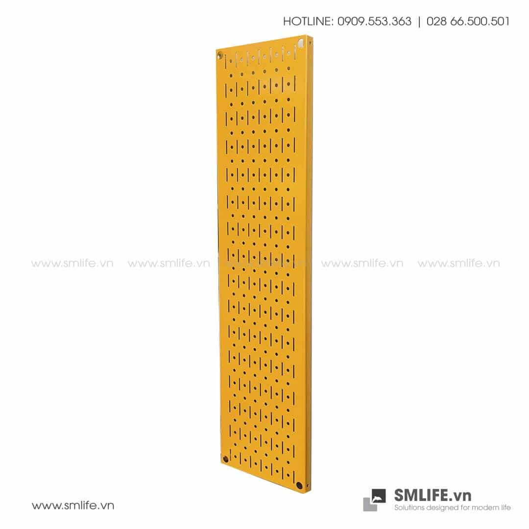 Bảng treo dụng cụ Pegboard đứng 80×20 – Vàng