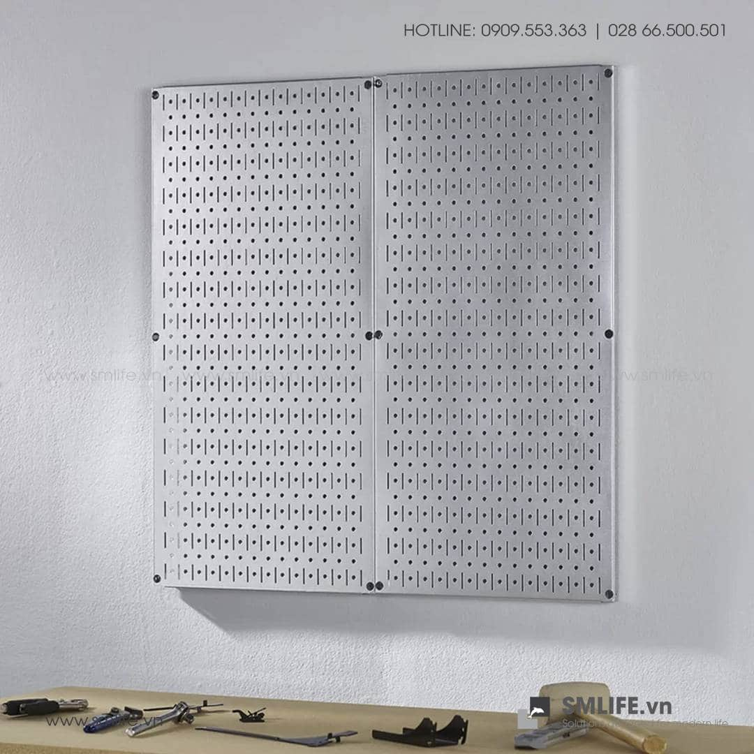 Bộ 2 Bảng treo dụng cụ Pegboard đứng 80×40 – Mạ Kẽm