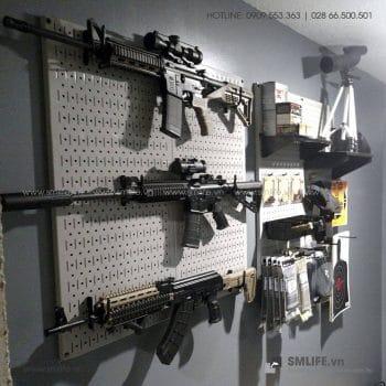Bộ 2 Bảng treo dụng cụ Pegboard đứng 80×40 Màu Trắng
