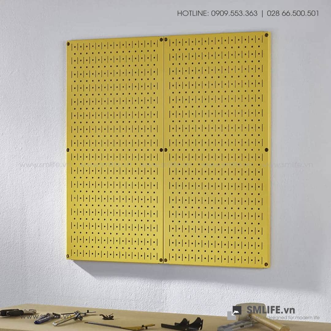 Bộ 2 Bảng treo dụng cụ Pegboard đứng 80×40 – Vàng