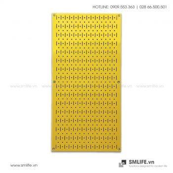 Bảng treo dụng cụ Pegboard đứng 80×40 Màu Vàng