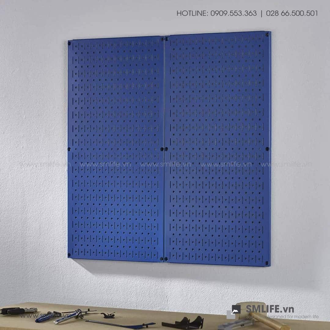 Bộ 2 Bảng treo dụng cụ Pegboard đứng 80×40 – Xanh