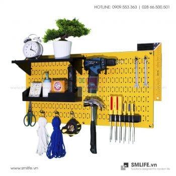 Bảng treo dụng cụ Pegboard cơ khí S3 – Yellow