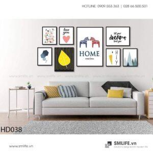 Tranh treo tường | Bộ 8 Tranh Home