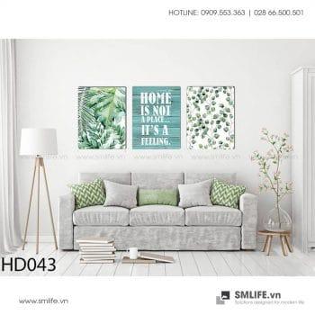 Tranh treo tường | Bộ 3 Tranh Màu Xanh Home