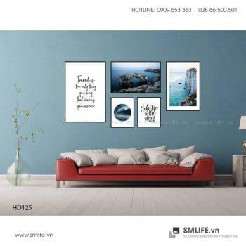 Tranh treo tường | Bộ 5 Tranh Đại Dương Bao La