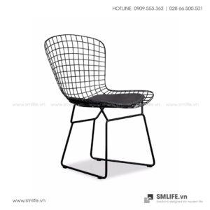 Ghế ăn, ghế cafe BEN, thép uốn sơn tĩnh điện cao cấp | SMLIFE