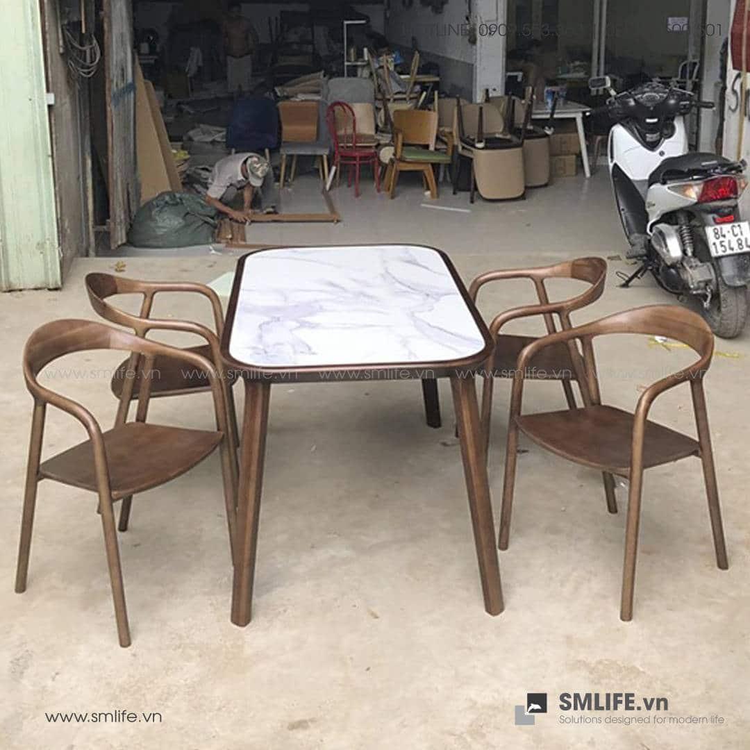 HT - Bộ bàn ăn bằng gỗ KALOTA NEVA (1)