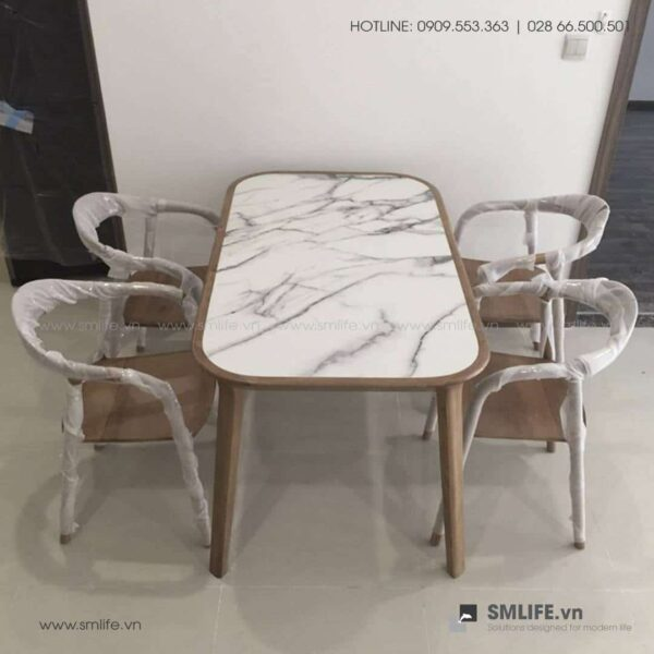 HT - Bộ bàn ăn bằng gỗ KALOTA NEVA (3)