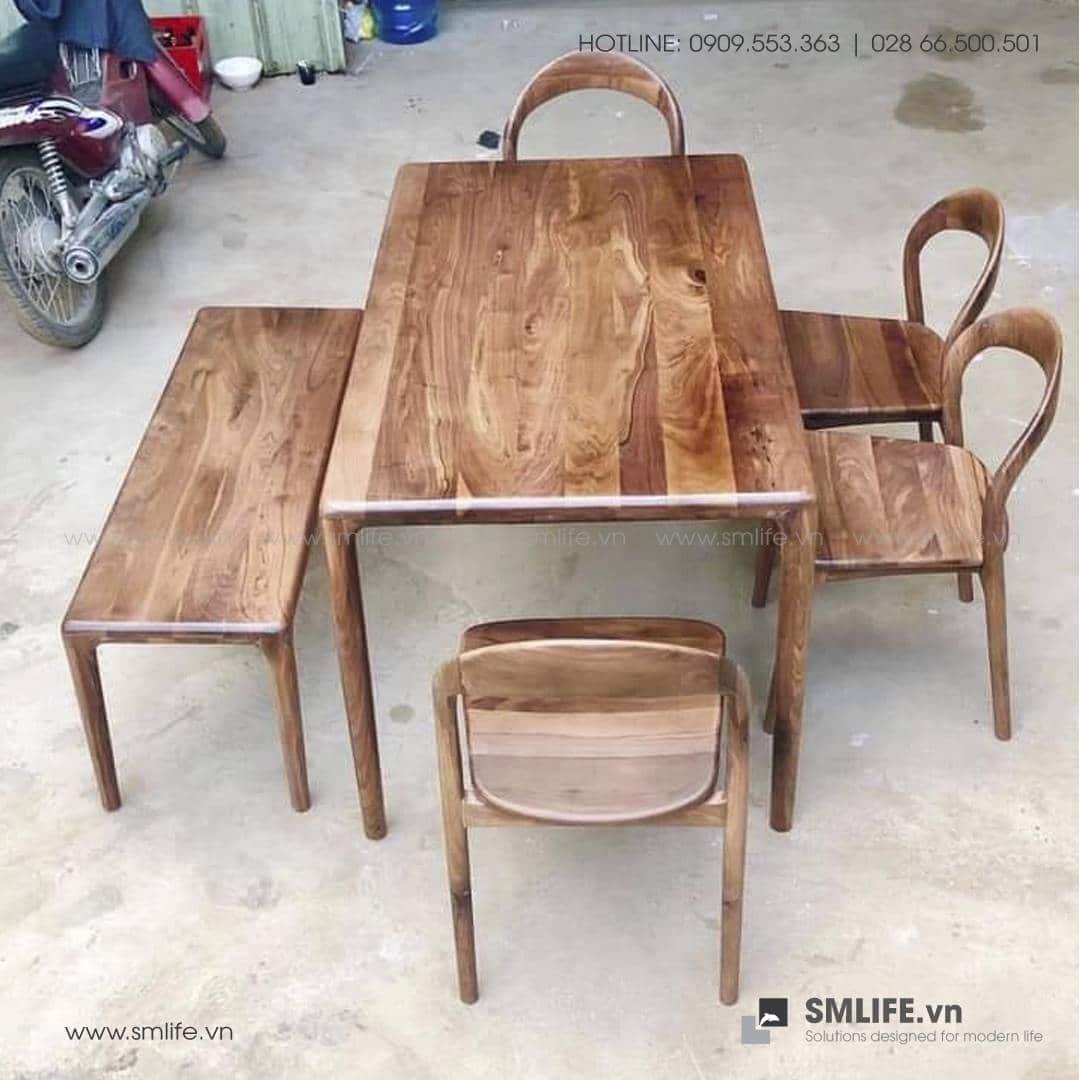 HT - Bộ bàn ăn bằng gỗ LATUS I (1)