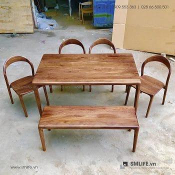 HT - Bộ bàn ăn bằng gỗ LATUS I (2)
