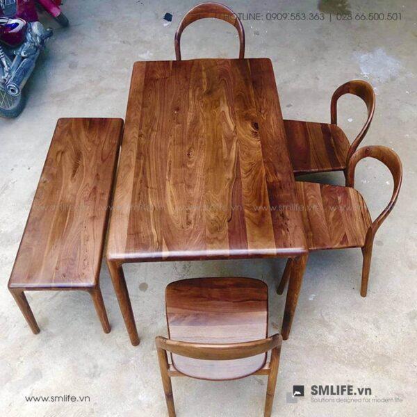 HT - Bộ bàn ăn bằng gỗ LATUS I (3)