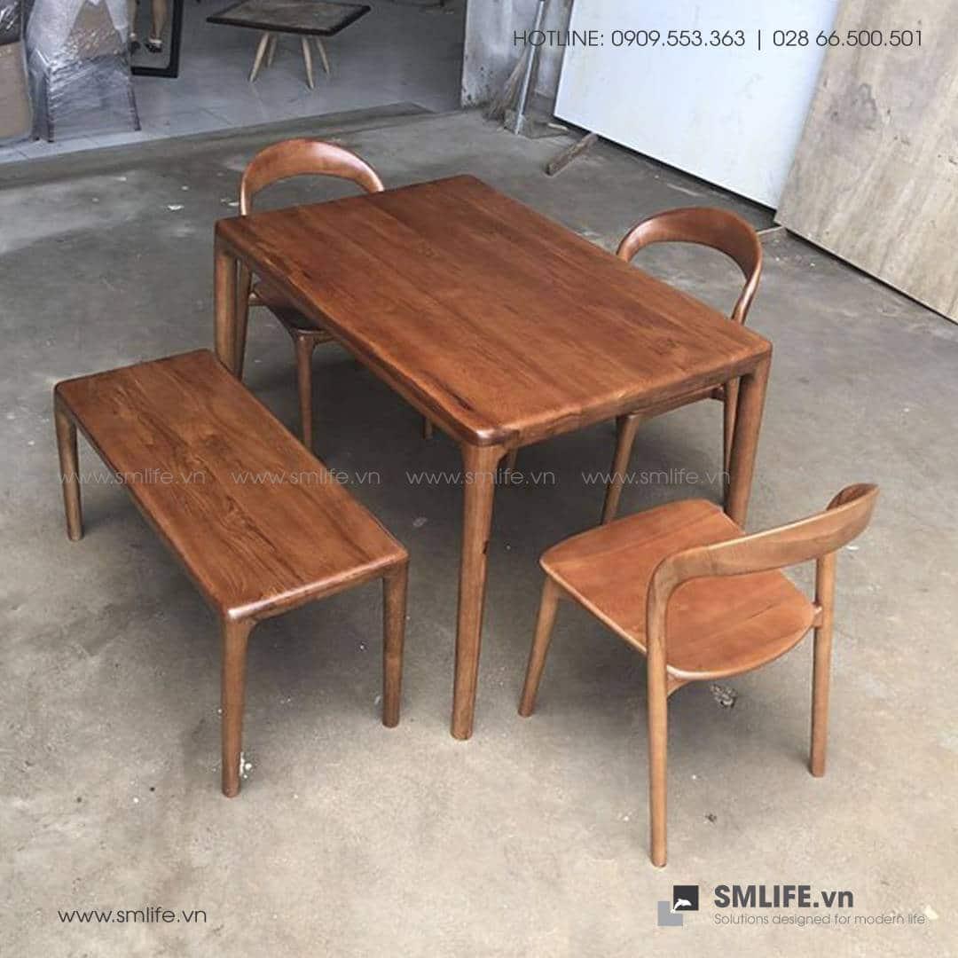 HT - Bộ bàn ăn bằng gỗ LATUS I (6)
