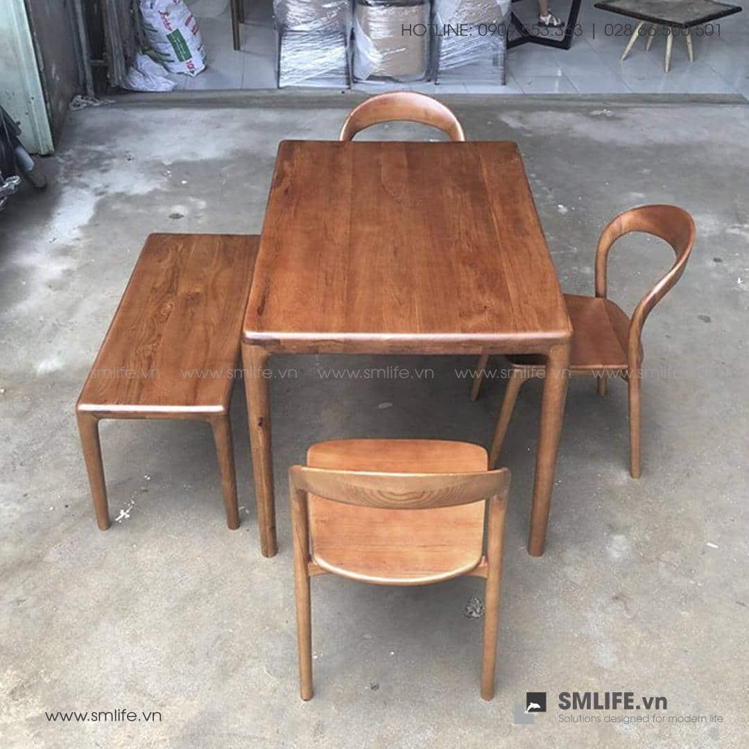 HT - Bộ bàn ăn bằng gỗ LATUS I (7)