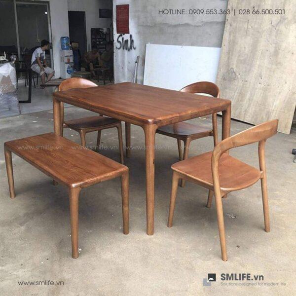 HT - Bộ bàn ăn bằng gỗ LATUS I (8)