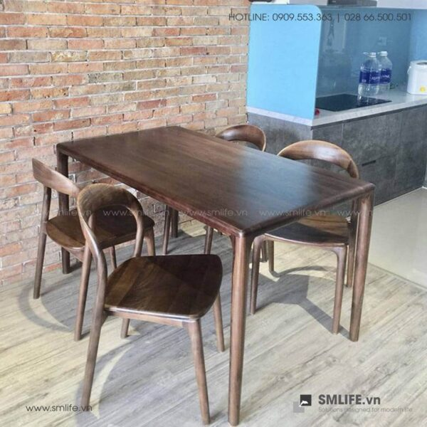 HT - Bộ bàn ăn bằng gỗ LATUS II (1)