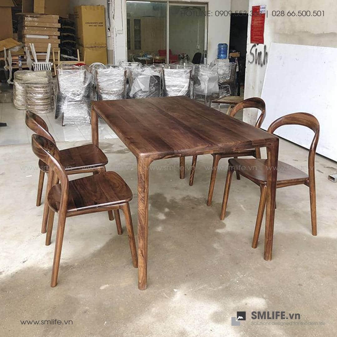 HT - Bộ bàn ăn bằng gỗ LATUS II (2)