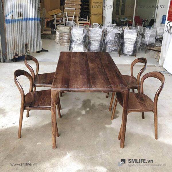 HT - Bộ bàn ăn bằng gỗ LATUS II (5)