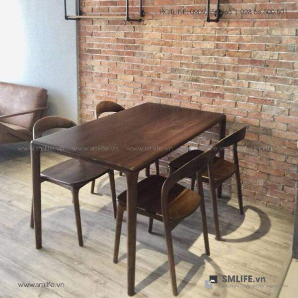 HT - Bộ bàn ăn bằng gỗ LATUS II (7)