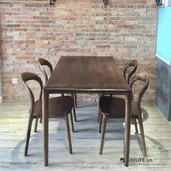 HT - Bộ bàn ăn bằng gỗ LATUS II (8)