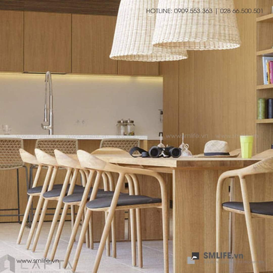 HT - Bộ bàn ăn bằng gỗ LATUS NEVA (2)