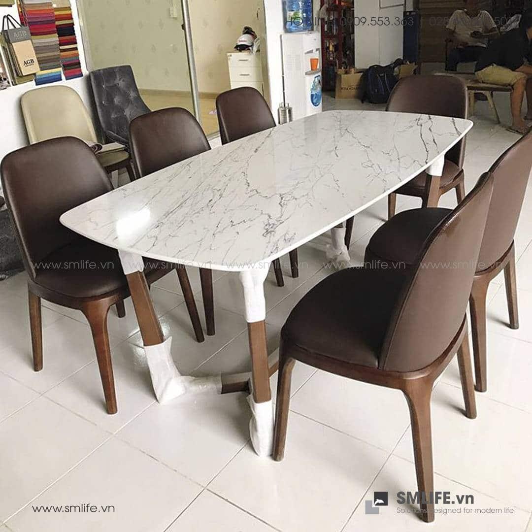 HT - Bộ bàn ăn mặt đá CONCORDE GRACE (14)