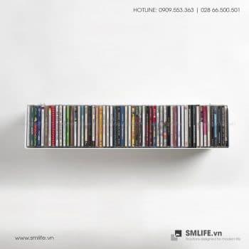 Kệ đựng đĩa CD, đĩa DVD, đĩa GAME gắn tường, kệ thép trang trí | SMLIFE