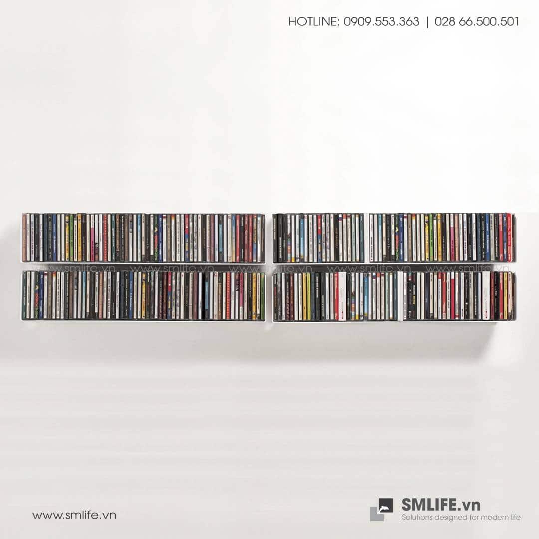 Kệ đựng đĩa CD, đĩa DVD, đĩa GAME gắn tường, kệ thép trang trí   SMLIFE