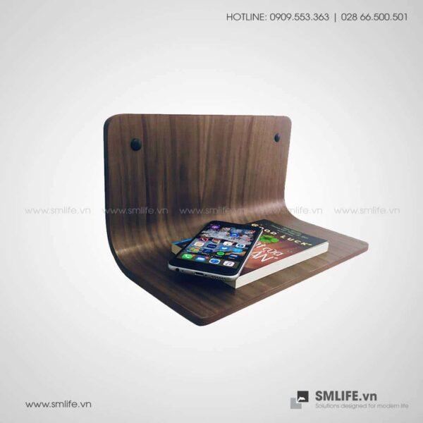 Kệ đầu giường gỗ uốn cong SMLIFE