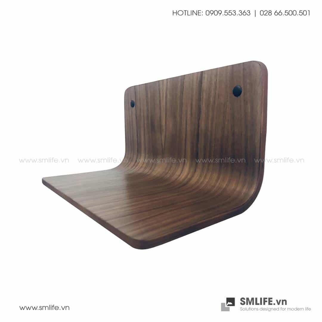 Kệ đầu giường ngủ gỗ uốn cong SMLIFE