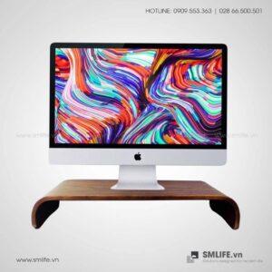 Kệ để màn hình máy tính gỗ uốn cong SMLIFE