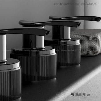 Kệ rack nhà tắm kèm 3 chai nhựa | SMLIFE
