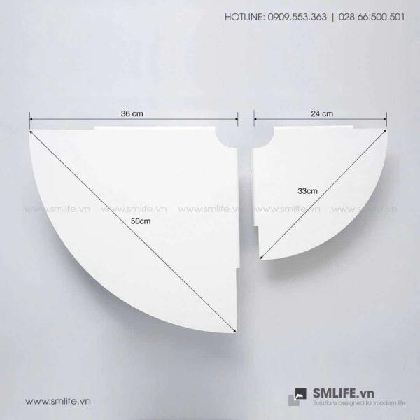 Kệ góc tường nhà tắm 36, kệ thép trang trí | SMLIFE